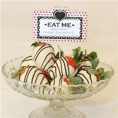 Mad Hatter Food Tags Alice in Wonderland Food Tags