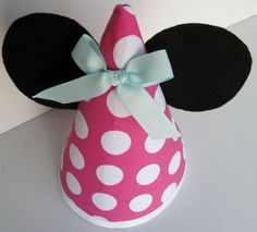 Custom Minnie Mouse Ears Birthday Party Hat