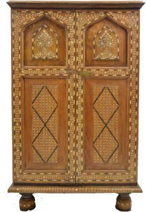 Intricate vintage bone inlay cabinet from India @Akash Sinha-Paye