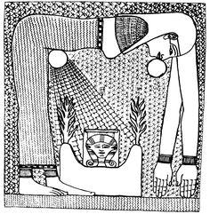 L'antica immagine di egizia di Nut che ingoia e partorisce il sole rappresenta l'idea di una grande dea stellata che ingoia e dà alla luce un dio simbolo di resurrezione (Joseph Campbell, Le Figure Del Mito)