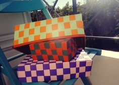 χειροποίητα χάρτινα καλάθια από canson - handmade canson paper baskets
