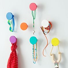 Shop Kids Wall Hooks: Round Wall Knobs.  Research shows that most kids who leave their jackets on the floor do so because they simply can't see where to hang them.  That's why we designed our Can't Miss Wall Knobs.