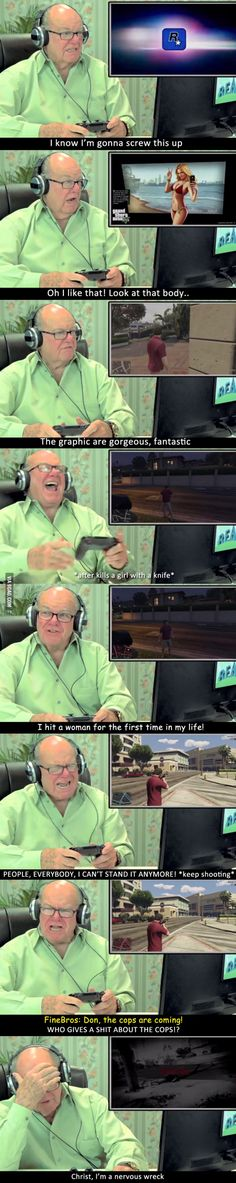 Here are some hilarious elders reactions to GTA V! (part 1)