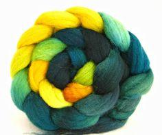 combed top: Shetland wool roving, felting fibers, spinning roving. $16.00, WiddershinWoolworks via Etsy.