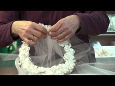 Awesome video tutorial on how to make a First Communion veil !  This is the one I'm going to use to make it!!!!