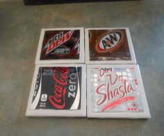 Use soda cans to create a whole range of aluminum can crafts. Pop cans and even soup cans are used to shape fun decorating projects and toys. Over 90 aluminum can craft projects. Pop Can Crafts, Rock Crafts, Diy Crafts, Beer Crafts, Craft Beer, Aluminum Can Crafts, Aluminum Cans, Coaster Crafts, Diy Coasters