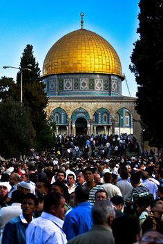 Dome of the Rock  Jerusalem There's nothing more spiritual than this place the second sacred spot on earth after Mecca in the Arabic Peninsula. It is sooo beautiful I wish I could go back.