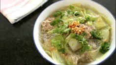 Pork stock is the basic stock used in Thai cuisine. A good stock will augment the flavour of all your dishes! Recipe from Hot Thai Kitchen!
