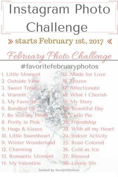 Update 1/28/2017: If you are here for info about my February Photo Challenge starting February 1st, the info is at the end of this post so feel free to scroll down or join the event on Facebook so …