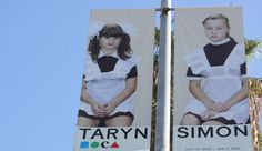 "Some things you have to see to believe. That's why The Museum of Contemporary Art, Los Angeles (MOCA) turns to AG Media and it's City Light Pole Banners to promote their exhibitions such as ""Taryn Simon: A Living Man Declared Dead and Other Chapters I-XVIII."""