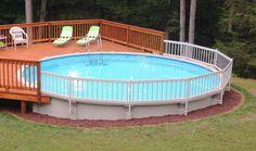 Above Ground Pool Fence, Round Above Ground Pool, Above Ground Pool Landscaping, Backyard Pool Landscaping, Backyard Pool Designs, Deck Ideas For Above Ground Pools, Landscaping Ideas, Landscaping Around Deck, Above Ground Swimming Pools