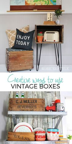 Creative ways to use vintage boxes in home decor Vintage Box, Magazine Rack