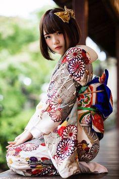 markjudgelovejapan Beautiful Japanese Girl, Japanese Beauty, Beautiful Asian Girls, Asian Beauty, Traditional Japanese Kimono, Traditional Fashion, Traditional Dresses, Prity Girl, Kimono Japan