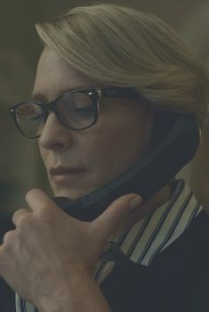 Claire Underwood wearing  Ray-Ban RB5184-2023  New Wayfarer Optical Glasses