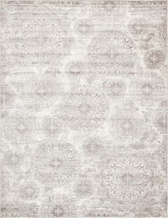"This Turkish Monaco rug is made of Polypropylene. This rug is easy-to-clean, stain resistant, and does not shed. Colors found in this rug include: Light Gray, Ivory. The primary color is Light Gray. This rug is 1/2"" thick."