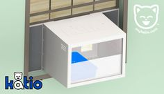 Katio™ – the #kitty litter box that goes in your window. #katio #cats #patio http://mykatio.com