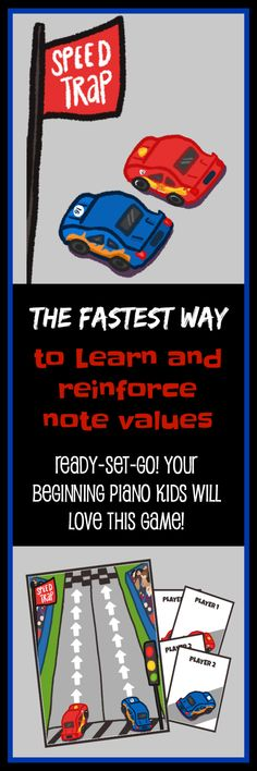 Your students will literally be racing to play this piano game - and their knowledge and recognition of quater, half, dotted half and whole notes will flourish! Get this game (plus 3 more!) for just $8 total at www.pianogameclub.com *available until December 26th #CoolPianoTeachersUseGames #PianoGameClub