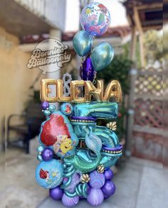 Mermaid Party Decorations, Balloon Centerpieces, Balloon Decorations Party, Birthday Party Decorations, Balloon Basket, Balloon Box, Balloon Bouquet Delivery, Mermaid Balloons, Balloon Crafts