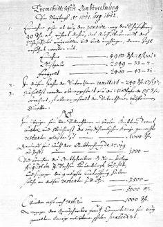 Amtsrechnung von 1652