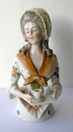 Lovely-Galluba-Hoffman-China-Half-doll-La-Belle-Chocolatiere-4-8-9191-Rare