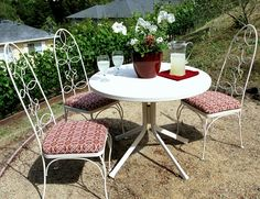Centsational Girl » Blog Archive » A Bistro Set Makeover with an Unexpected Surprise