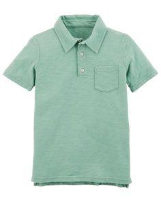 969a9f99 Garment-Dyed Slub Jersey Polo. Carter Kids ...