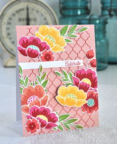 Celebrate Card by Dawn McVey for Papertrey Ink (July 2017)