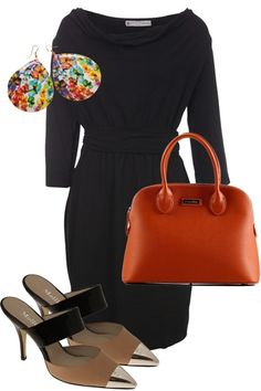 one simple black dress to accessorise!