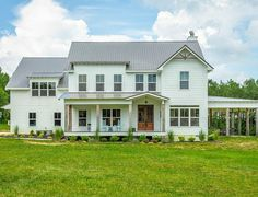 A Modern Farmhouse For Sale in Signal Mountain, Tennessee - Hooked on Houses Signal Mountain Tennessee, American Houses, Real Estate, Modern Farmhouse, Beautiful Homes, Home Goods, Shed, Exterior, Outdoor Structures