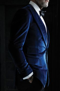Blue velvet suit. The Whipped Cat Bespoke Tailors make Savile Row Quality Bespoke Suits for personal and corporate clients throughout the UK. Contact us now to book a consultation with one of our Travelling Tailors. Please call: 01728 726545 or email: enquiries@thewhippedcat.com