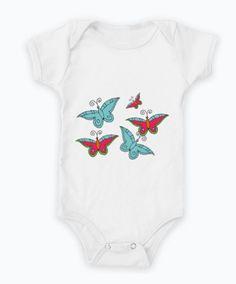 Body de bebê 100% algodão i#bodies #baby #body #cute #borboleta #butterfly #illustração