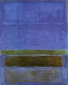 Untitled Blue Green  and Brown: Mark Rothko, 1952.