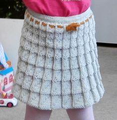 Sukýnka pletená kostkovým vzorem | PLETENÍ – NÁVODY