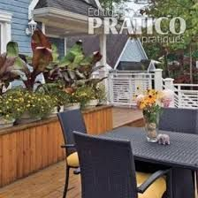 bac fleurs avec des lames de terrasse en bois bac a. Black Bedroom Furniture Sets. Home Design Ideas