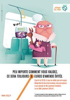 Campagne RATP sur la validation des titres de transport
