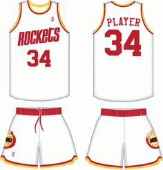 95ccb936d Houston Rockets Home Uniform 1977-1995 Houston Rockets