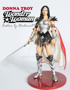 Donna Troy as Wonder Woman redesign custom by Chalana87 on DeviantArt