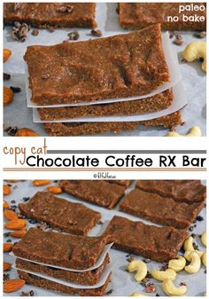 Copycat Chocolate Coffee RX Bars | Paleo Protein Bars | No Bake Protein Bar Recipe | Gluten Free | Dairy Free | Soy Free | Snack Bar | Meatless Monday | Chocolate Coffee