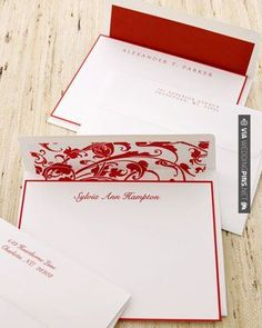 Love this! - red thermographic ink   CHECK OUT MORE GREAT RED WEDDING IDEAS AT WEDDINGPINS.NET   #weddings #wedding #red #redwedding #thecolorred #events #forweddings #ilovered #purple #fire #bright #hot #love #romance #valentines