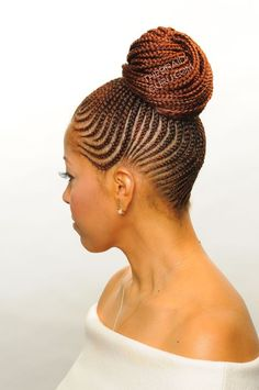 Latest Hairstyles & Haircuts For South African 2018 See also Natural Cornrow decorated Hairstyles For Black girls For Anyone UN agency Is uninterested Braided Hairstyles Updo, African Braids Hairstyles, My Hairstyle, Braided Updo, Latest Hairstyles, Hairstyles Haircuts, Cornrows Updo, Black Hairstyles, Braids In A Bun