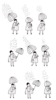 J'ai toujours peur de garder mon parapluie alors qu'il ne pleut plus et de passer pour une grosse imbécile aux yeux des passants. Allez, ...