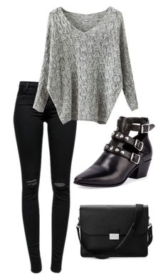 """""""Untitled #38"""" by vilciune on Polyvore featuring J Brand, Yves Saint Laurent, Aspinal of London, women's clothing, women, female, woman, misses and juniors"""