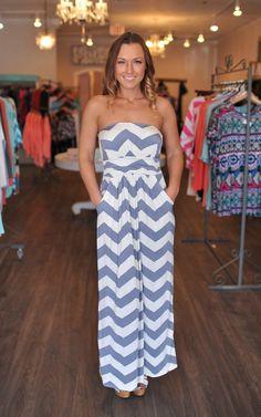 Dottie Couture Boutique - Grey Chevron Maxi Dress, $48.00 (http://www.dottiecouture.com/grey-chevron-maxi-dress/)