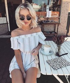 Check out this==> women's clothing outfits which look hot! Style Outfits, Summer Outfits, Casual Outfits, Cute Outfits, Fashion Outfits, Fashion Mode, Moda Fashion, Womens Fashion, Fashion Trends