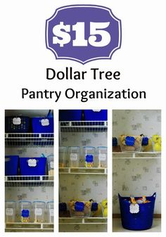 Inexpensive pantry organization with products from the Dollar Tree. #organizing #pantry I love this idea!