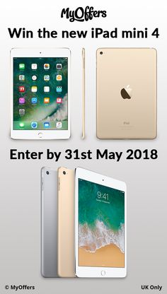 Enter free gadget competitions at MyOffers and win an Apple iPad, iPhone, Macbook Air, laptops, TVs or many more exciting electronic prizes online! New Ipad, Apple Ipad, Ipad Mini, Macbook, Competition, Laptop, Iphone, Free, Laptops