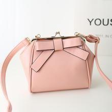 Youshine - Bow-Accent Kiss-Lock Crossbody Bag