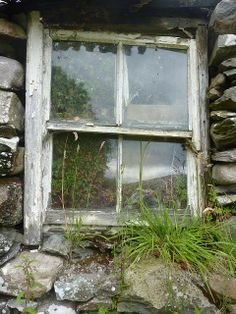 Window at abandoned stone house, Kerry, Ireland. by Katrin Von Meer