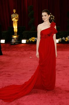 The shiny Anne Hathaway...  Voguish mode...   Hathaway has starred in dramatic films such as Havoc and Brokeback Mountain, in 2005.