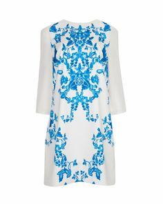 China blue print tunic dress - Cream | Dresses | Ted Baker UK